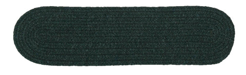Bristol Oval Braided Stair Tread, WL09 Dark Green