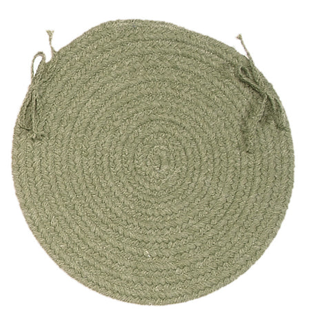 Bristol Round Braided Chair Pad, WL10 Palm Green