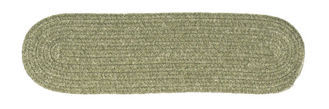 Bristol Oval Braided Stair Tread, WL10 Palm Green