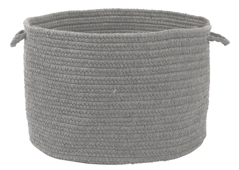 Bristol Round Braided Basket, WL18 Gray