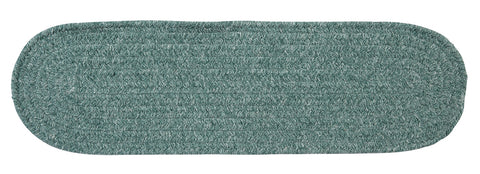 Bristol Oval Braided Stair Tread, WL27 Teal