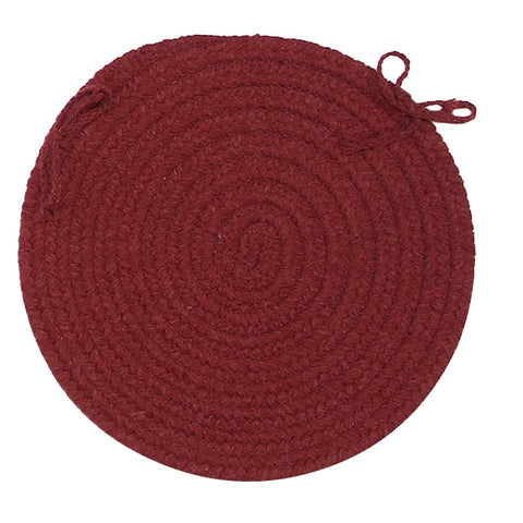 Bristol Round Braided Chair Pad, WL52 Holly Berry