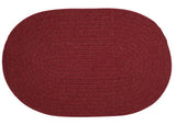 Bristol Oval Braided Rug, WL52 Holly Berry