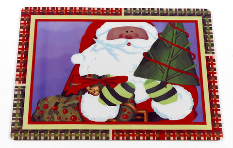 Chris Kringle Vinyl Placemat with Non-Slip Foam Backing
