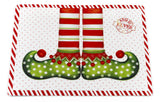 Elf Socks and Shoes Vinyl Placemat with Non-Slip Foam Backing