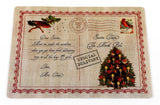 Postcard to Santa from Mrs. Claus Vinyl Placemat with Non-Slip Foam Backing