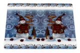 Holiday Snow Men Vinyl Placemat with Non-Slip Foam Backing