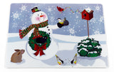 Snow Man and Friends Vinyl Placemat with Non-Slip Foam Backing