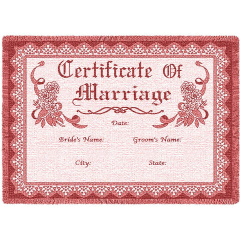 Certificate Of Marriage Rose Small Blanket