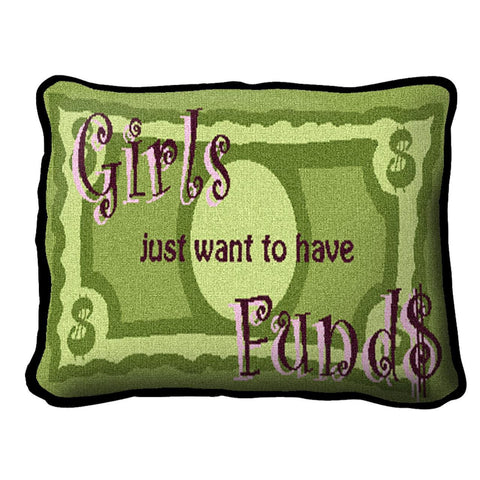 Girls Funds Pillow