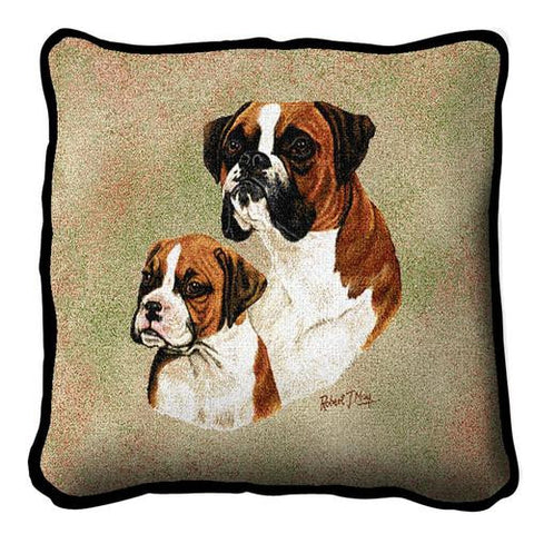 Boxer with Puppy Pillow