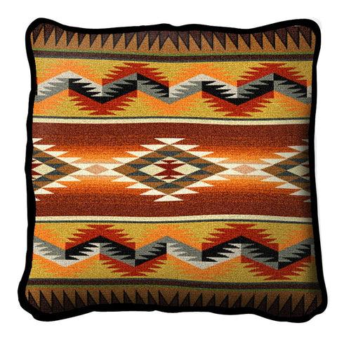 Southwest Geometric Flame Pillow