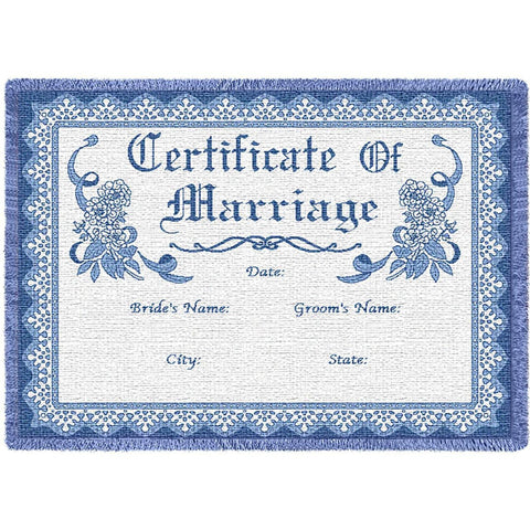 Certificate Of Marriage Blue Blanket