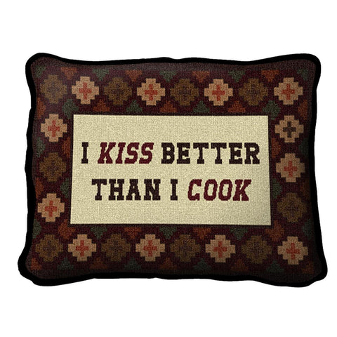 Southwest Kiss the Cook Pillow