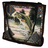 Fish Lodge Bass Tote Bag