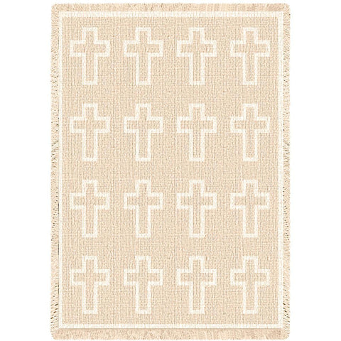 Cross Natural Blanket