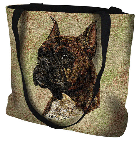 Boxer Brindle Tote Bag