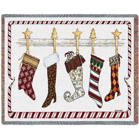 And the Stockings Were Hung Blanket
