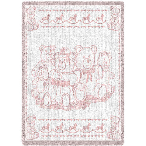 Bears Pink Mini Blanket
