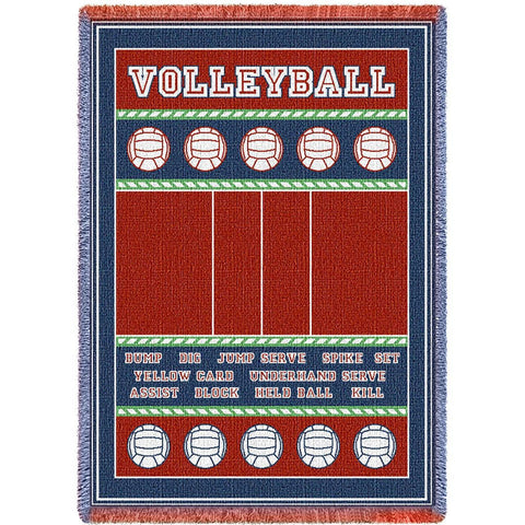 Volleyball Court Blanket