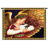 Angel and Dove Wall Tapestry