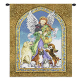 Angel and Dogs Wall Tapestry