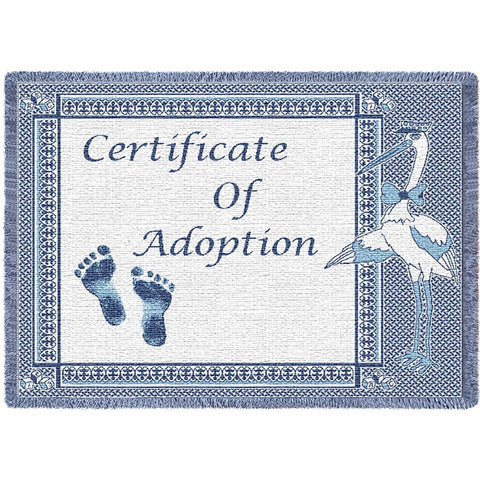 Certificate of Adoption Blue Small Blanket