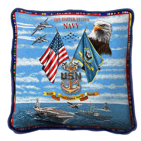 Navy Chiefs Pillow