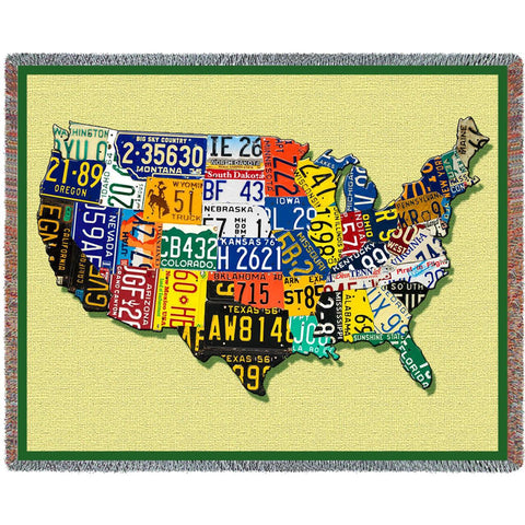 USA Tags Blanket