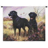 Labrador Retriever Black Wall Tapestry