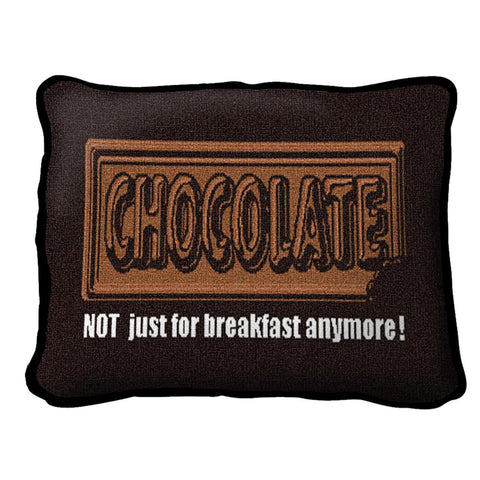 Chocolate for Breakfast Pillow