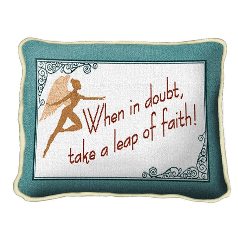 Leap Of Faith Pillow