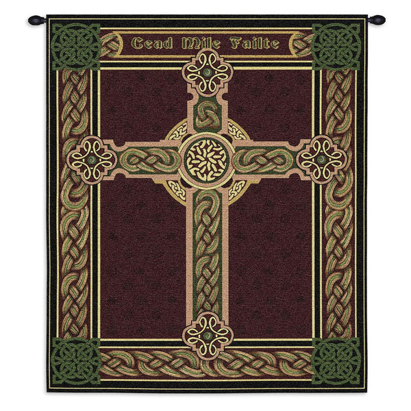 Celtic One Hundred Thousand Welcomes Art Tapestry Wall