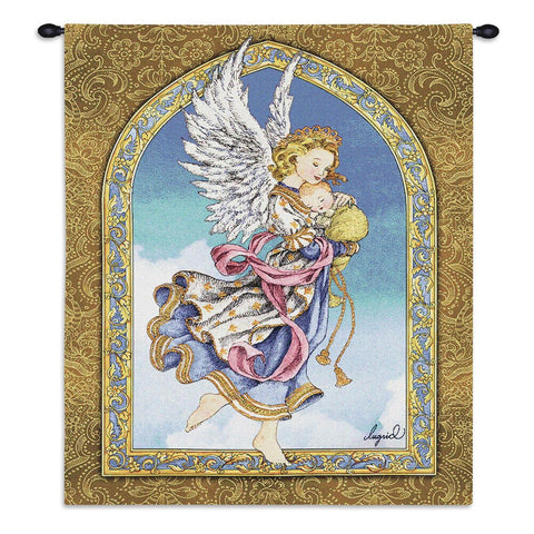 Angel and Baby Wall Tapestry