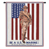 Be A Marine Wall Tapestry