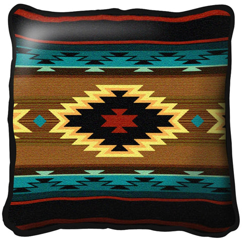 Southwest Geometric Turquoise Pillow