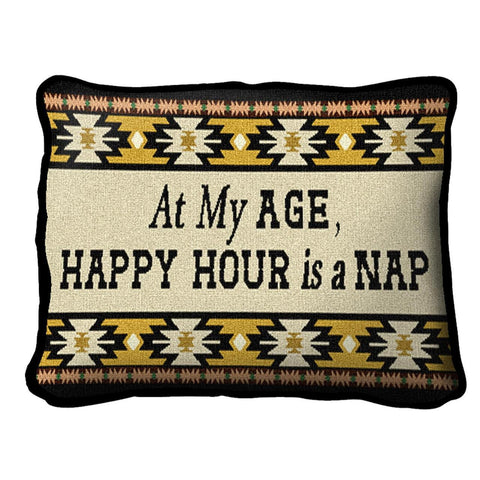 At My Age West Pillow