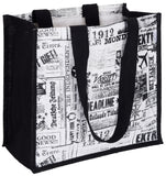 'POLTSA' 'Vintage News' Jute / Hessian eco friendly Reusable Shopping Grocery Tote Bag