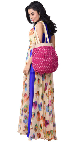 'BEG' Handloom Cotton eco friendly Shopping Tote Bag