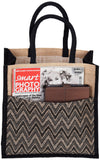 'THUNG' Aztec Juco/Jute eco friendly Reusable Shopping Grocery Tote Bag