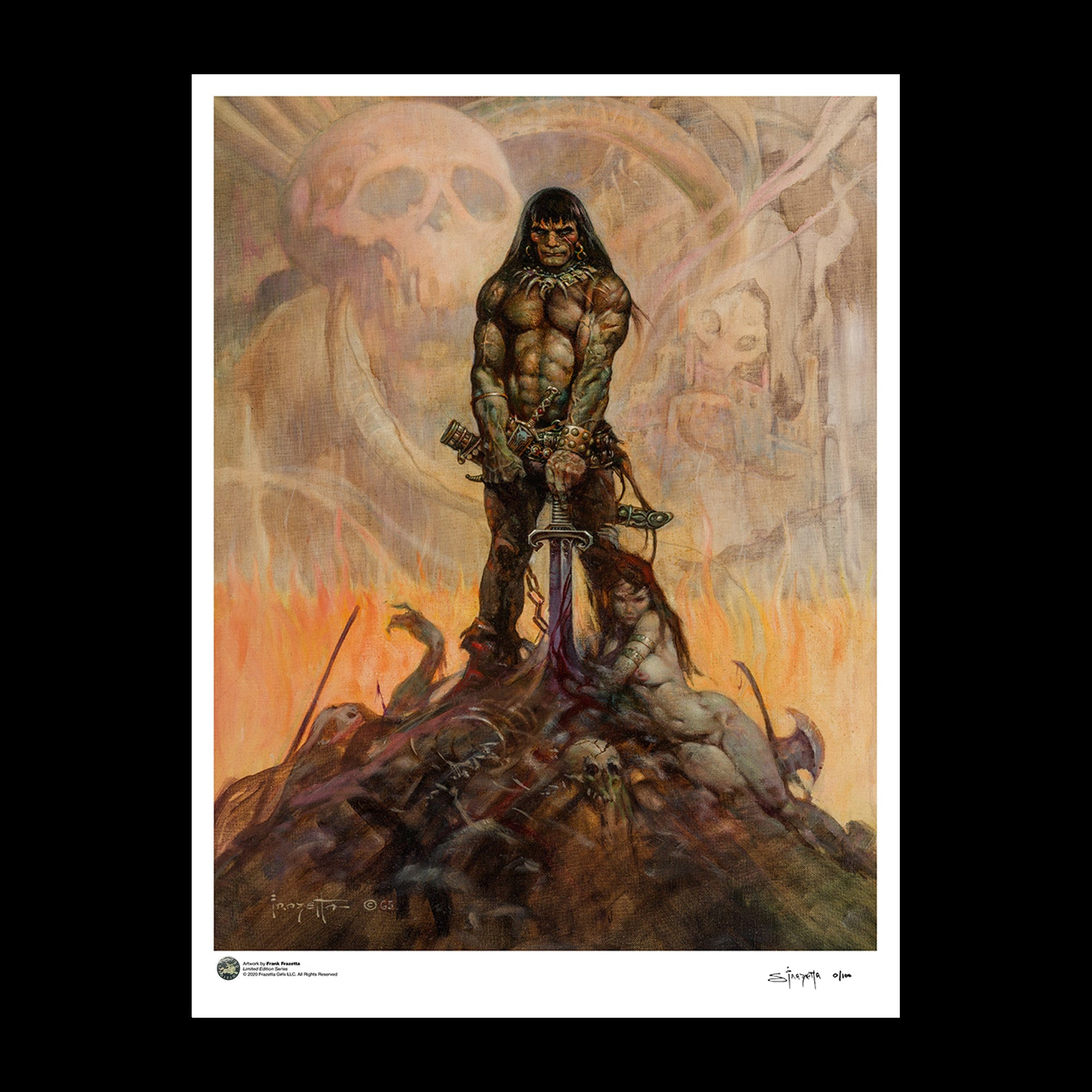 Frank Frazetta 'Conan The Barbarian' 24x32 Limited Edition Giclée