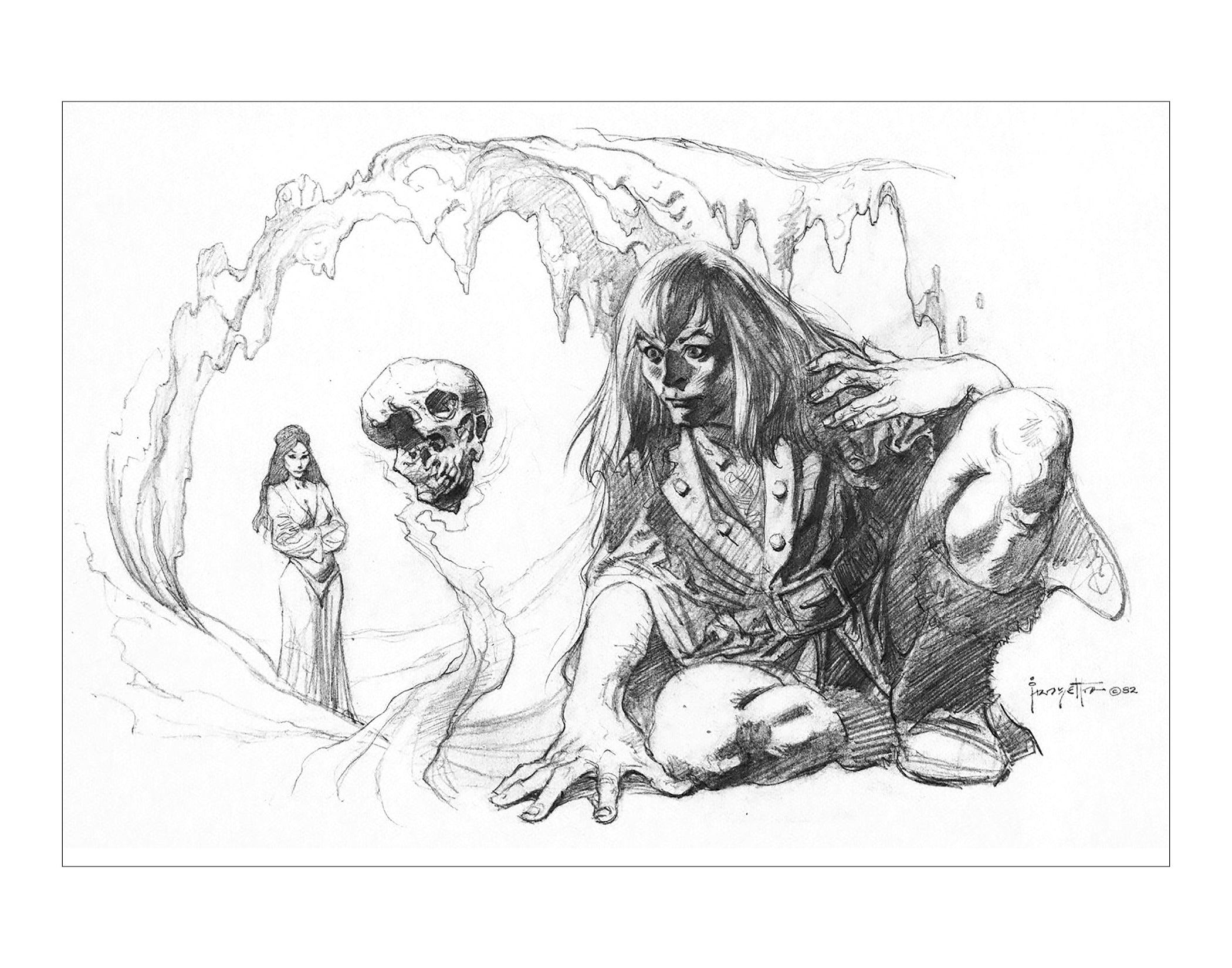 Nekron and Queen Juliana Pencil Print