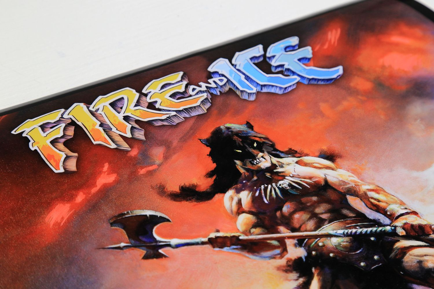 Frazetta 'Fire and Ice' Metallic Movie Poster Print /50