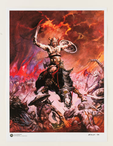 "Frank Frazetta - ""Dark Kingdom""  24x32 Limited Edition Giclée"