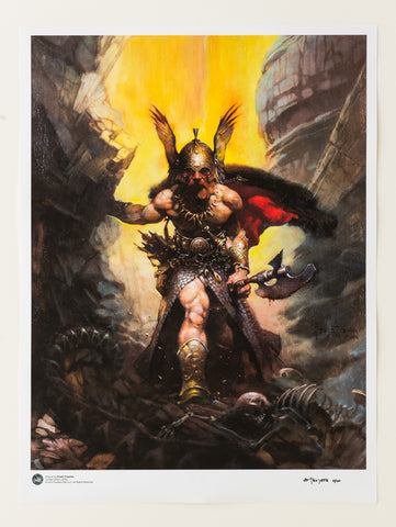 "Frazetta Girls, LLC Art Print 1/100 Frank Frazetta - ""Dark Kingdom""  24x32 Limited Edition Giclée"