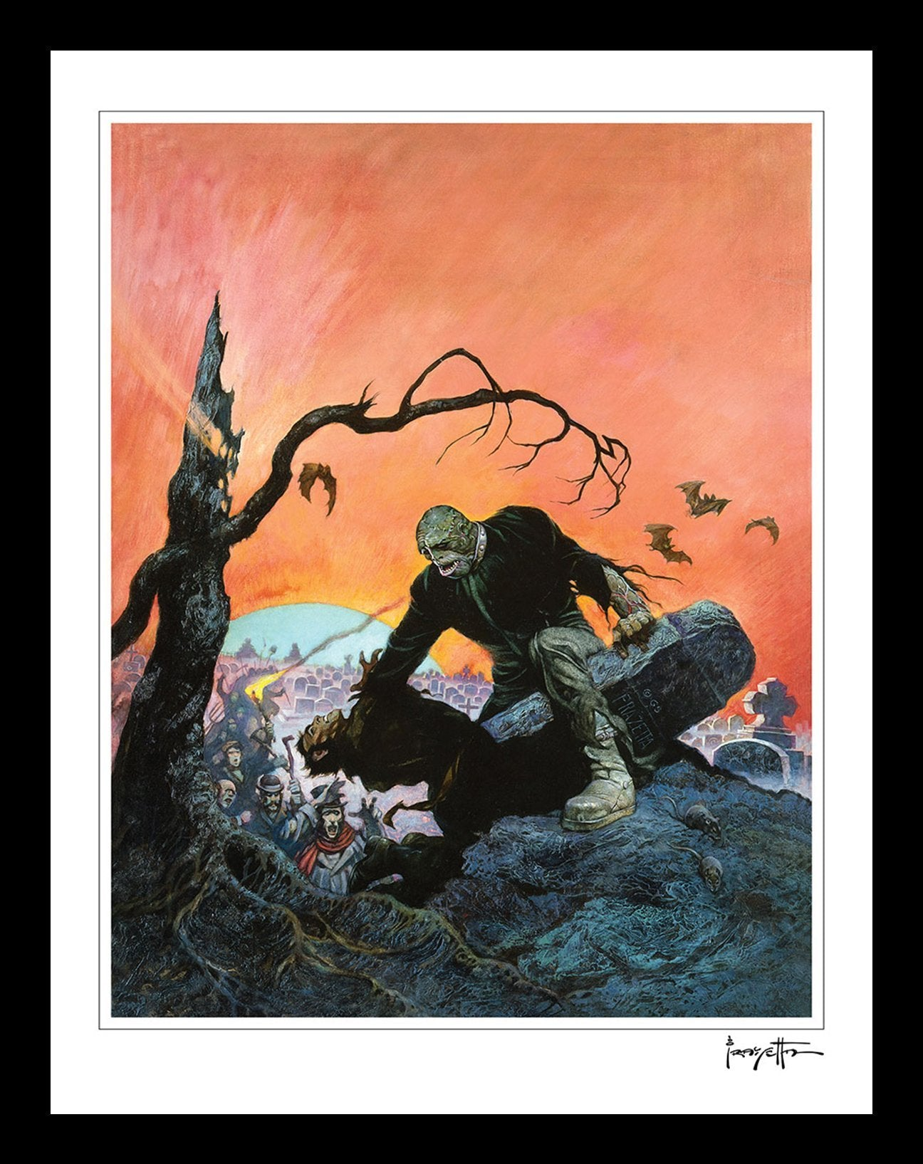 Frazetta Girls, LLC  Art Print Beyond the Grave Print