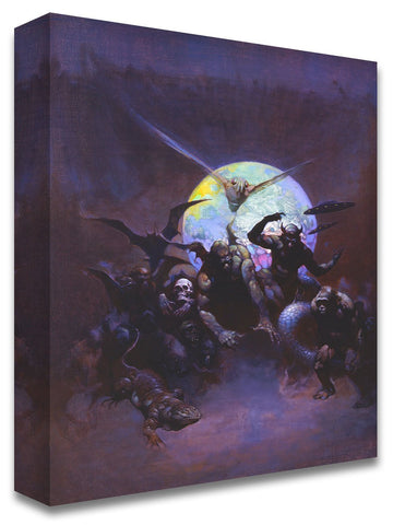 Frazetta Girls, LLC Art Print Fine art print / Stretched on wooden bar / 18x24 Strange Creatures Print