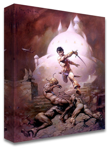 Frazetta Girls, LLC  Art Print Fine art print / Stretched on wooden bar / 18X24 Swords of Mars Print