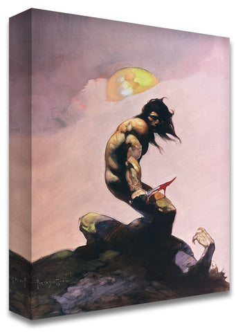 Frazetta Girls, LLC Art Print Tanar of Pellucidar Print
