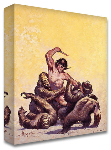 Frazetta Girls, LLC Art Print Fine art print / Stretched on wooden bar / 18x24 Tarzan #5 Print